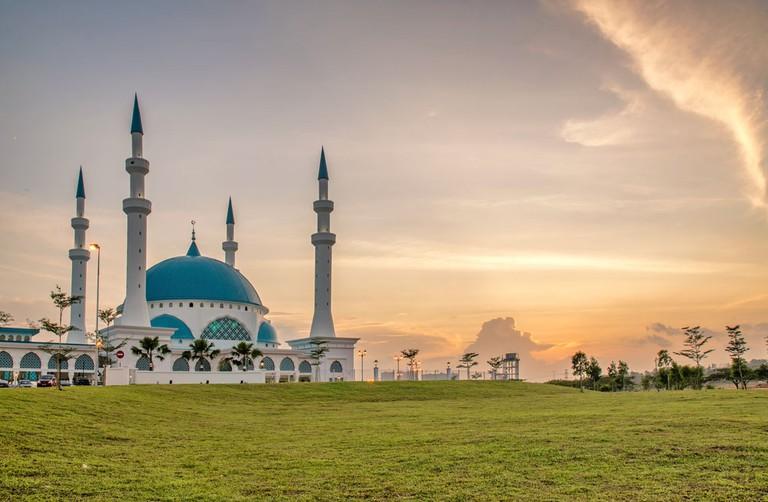 Newly built mosque at Bandar Dato Onn, Johor Bahru, Malaysia.