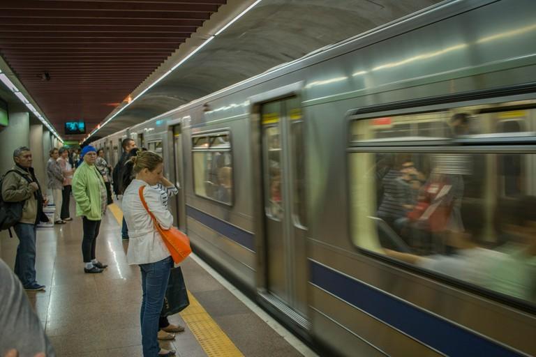 São Paulo metro train