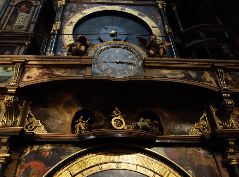 The masterly astronomical clock in Strasbourg Cathedral