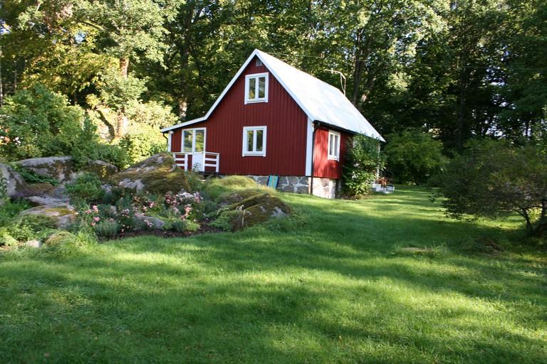 Traditional Swedish summer cottage
