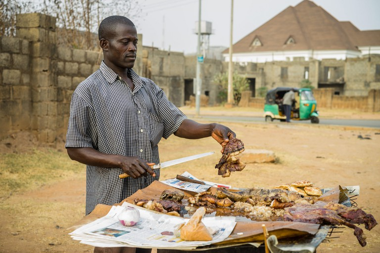 Suya street vendor | © Mark Fischer/ Flickr