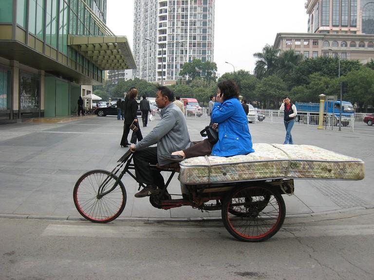 A unique kind of taxi