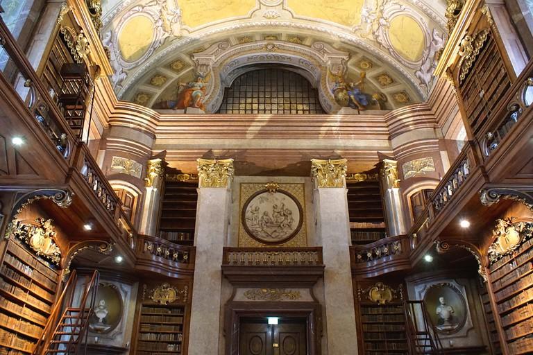 Inside the impressive Austrian National Library