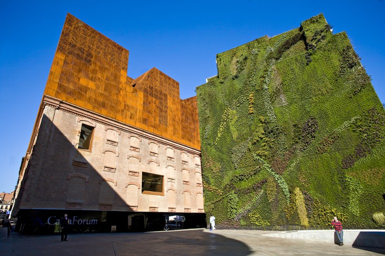 The Wall of Grass and Caixa Forum