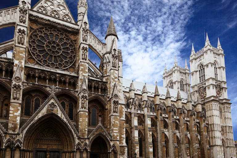 A view of the architecture of Westminster Abbey