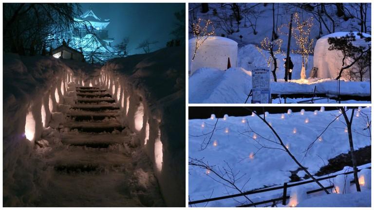 Yokote Castle during the Snow Festival | © Ippukucho/WikiCommons / Kamakura | © sumomojam//Photozou / Mini kamakura | © sumomojam/Photozou