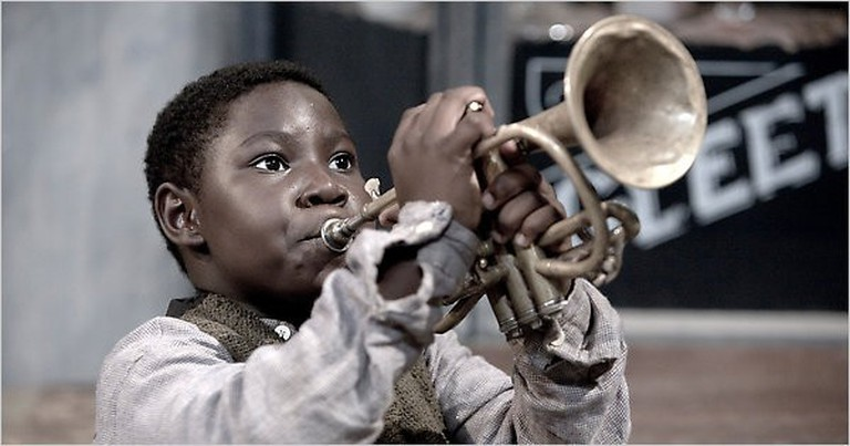 Anthony Coleman as the young Louis Armstrong/NationalArchives