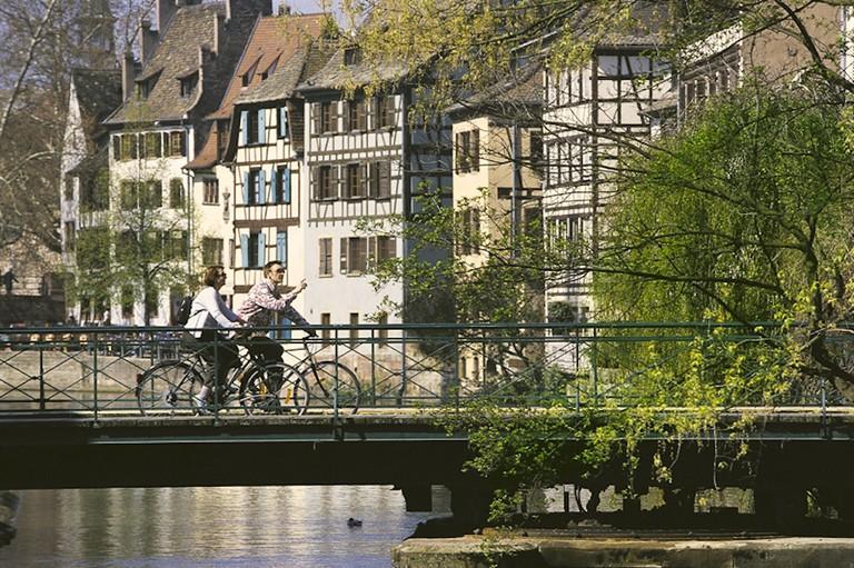 Taking it slow around Petite France in Strasbourg