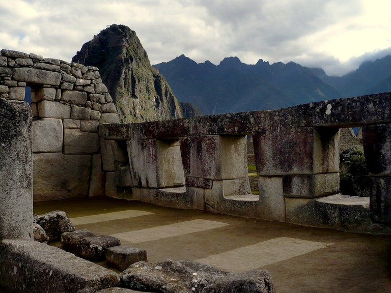The Temple of the Three Windows. A legend says each window represents the three tribes that gave origin to the Inca people