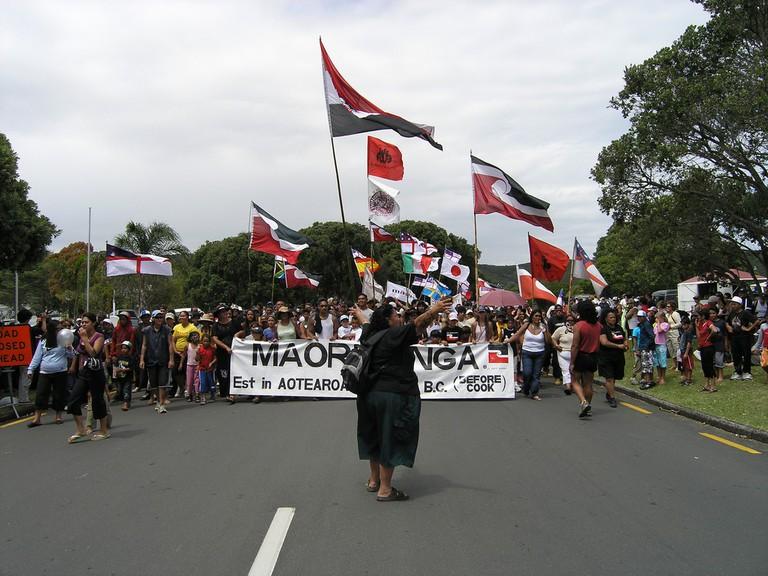 Māori protest on Waitangi Day