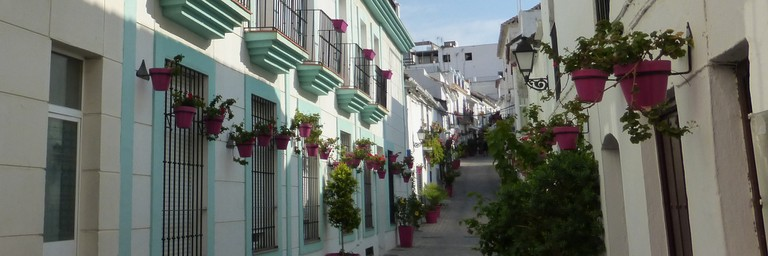 Estepona has some of the prettiest streets in Malaga; Alcalaina, flickr