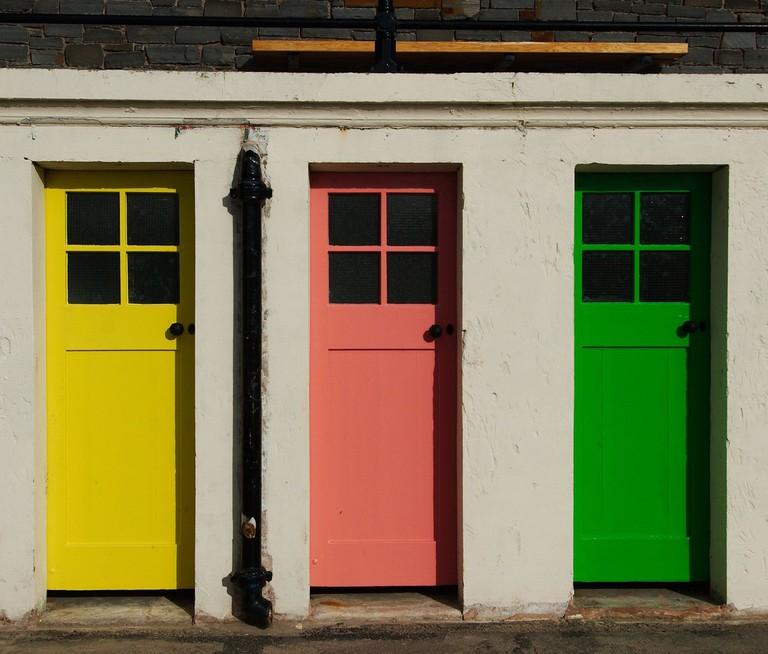 Doors At North Berwick Harbor | © Magnus Hagdorn/Flickr