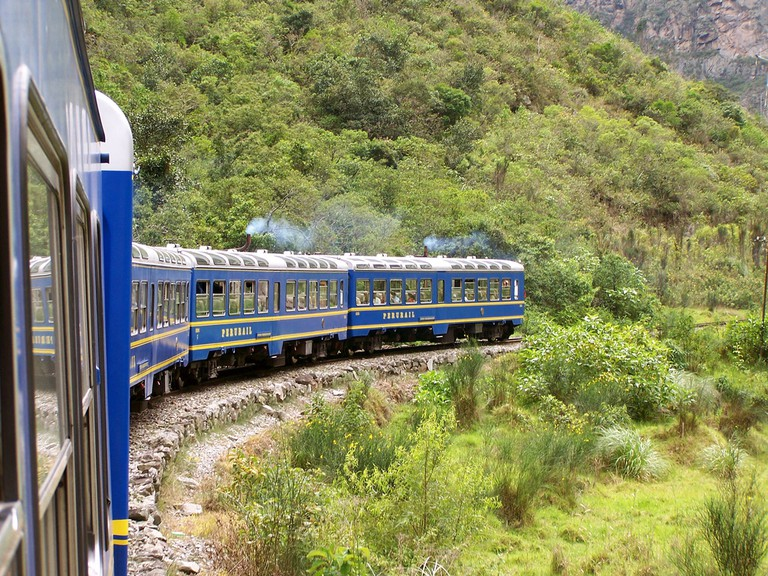 The train ride from Cusco to Aguascalientes takes close to 4 hours.