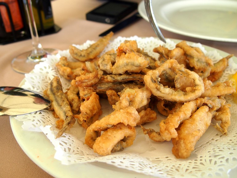 Fried fish is a must if you´re in Malaga; momo. flickr