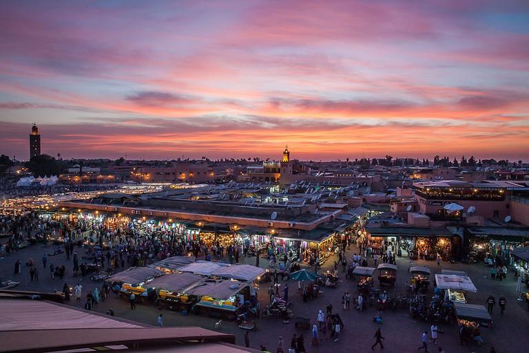 Djena el Fna in  in Marrakech