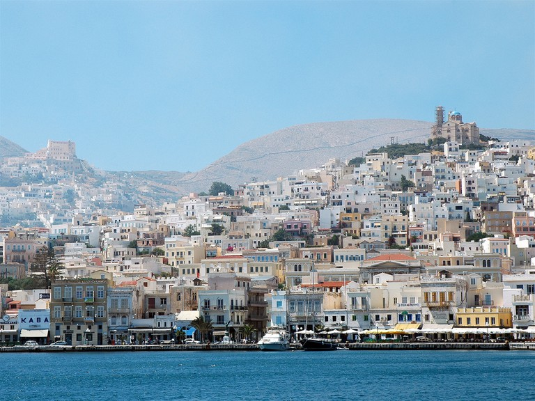 Ermoupolis, Administrative capital of the Cyclades