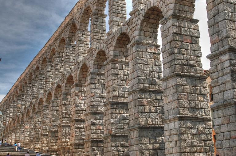 Segovia's massive Roman aqueduct