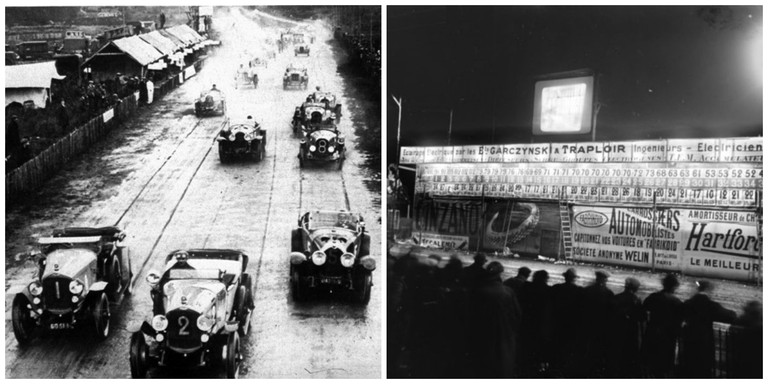 24 Hours of Le Mans, 1923 │© D.A.S. / WikiCommons ; Crowds at the 24 Hours of Le Mans, 1923 │© Agence Rol / WikiCommons