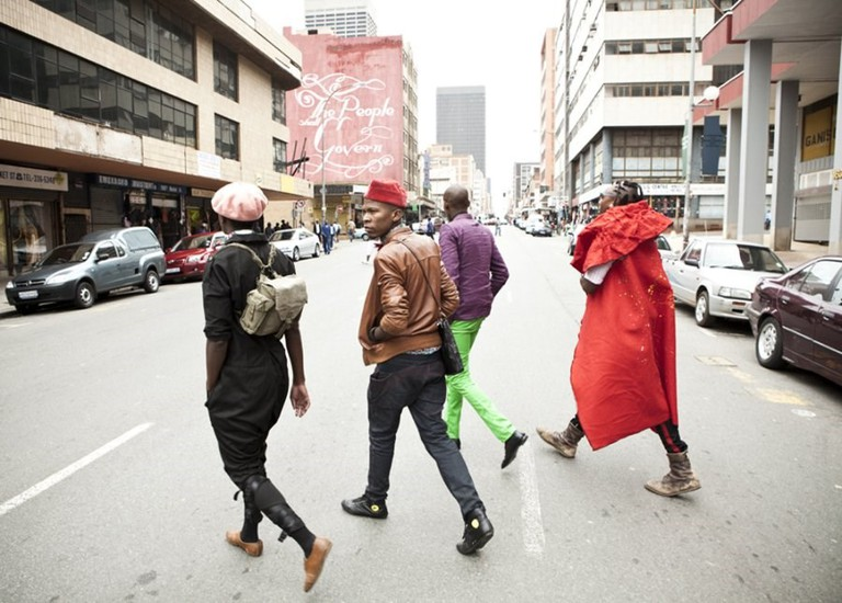 Smarteez walking in downtown Johannesburg