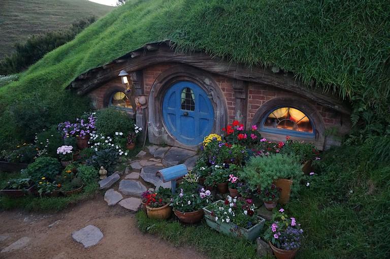 Hobbit Hole at the Hobbiton Movie Set
