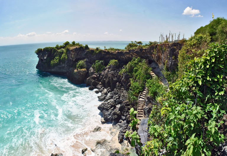 Clifftop view of Balangan Beach in Bali