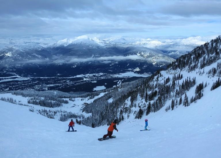 On top of Whistler Blackcomb