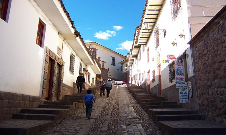 Cusco streets can get very steep.
