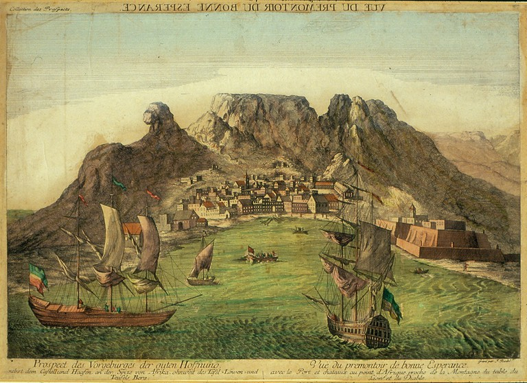 A colonial painting of the Cape of Good Hope c. 1780