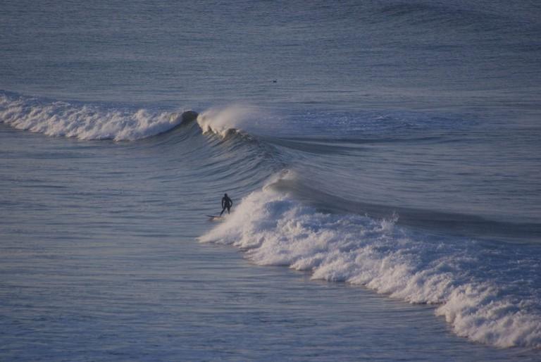 Surfing in Ensenada, Baja California