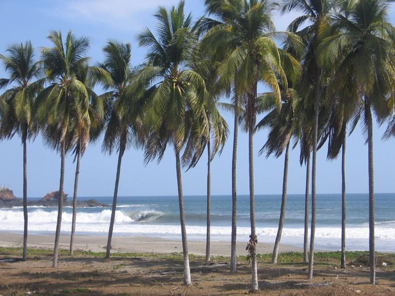 Beach in Michoacán