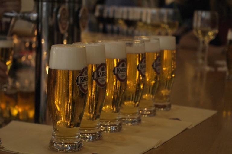 Row of Austrian Beer