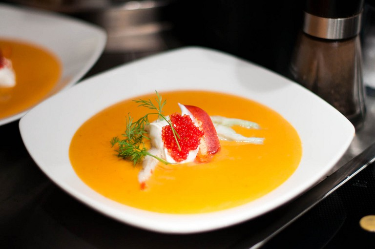 Delicious lobster soup
