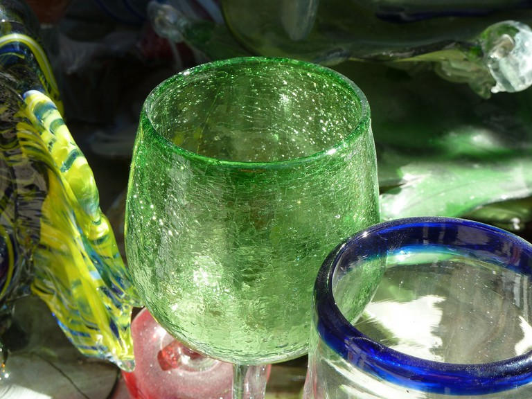 Hand blown glass from Mexico
