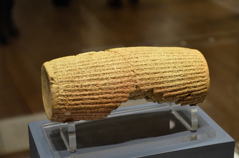 The Cyrus Cylinder is the oldest known charter of human rights