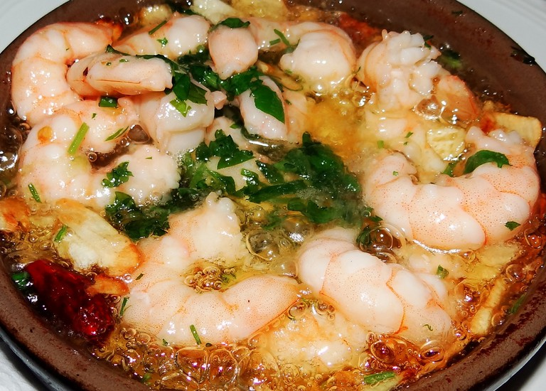 Spicy garlic prawns are a Malaga speciality; Ben Sutherland, flickr