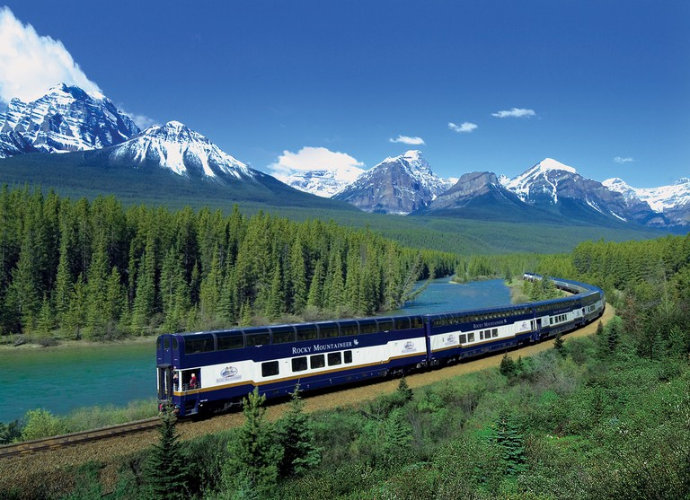 Rocky Mountaineer in Banff National Park