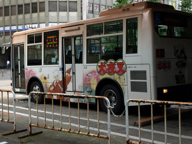 Bus featuring Inuyasha decal | © K.K.Chu / Flickr