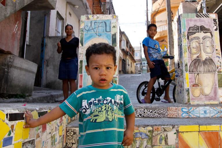 Children in a favela