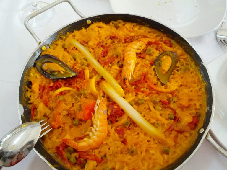 Paella with fresh seafood is a must-try in Malaga; Marit & Toomas Hinnosaar, flickr