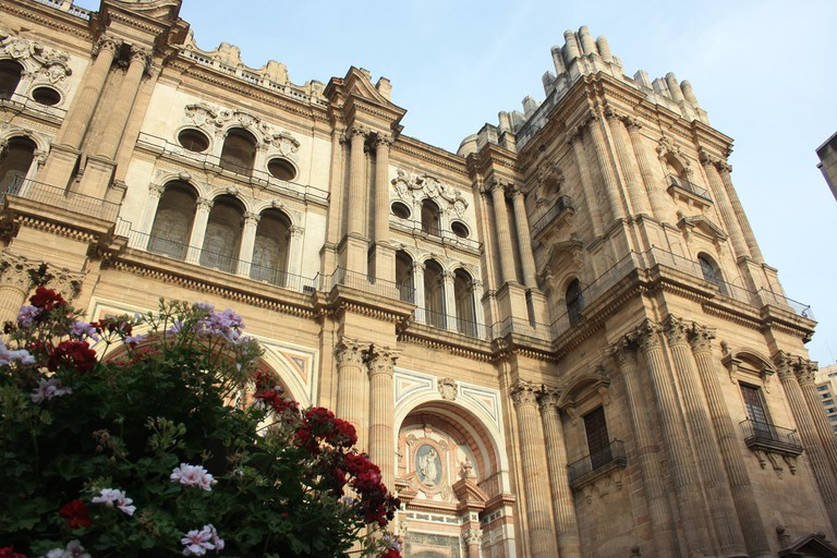 Málaga cathedral, façade