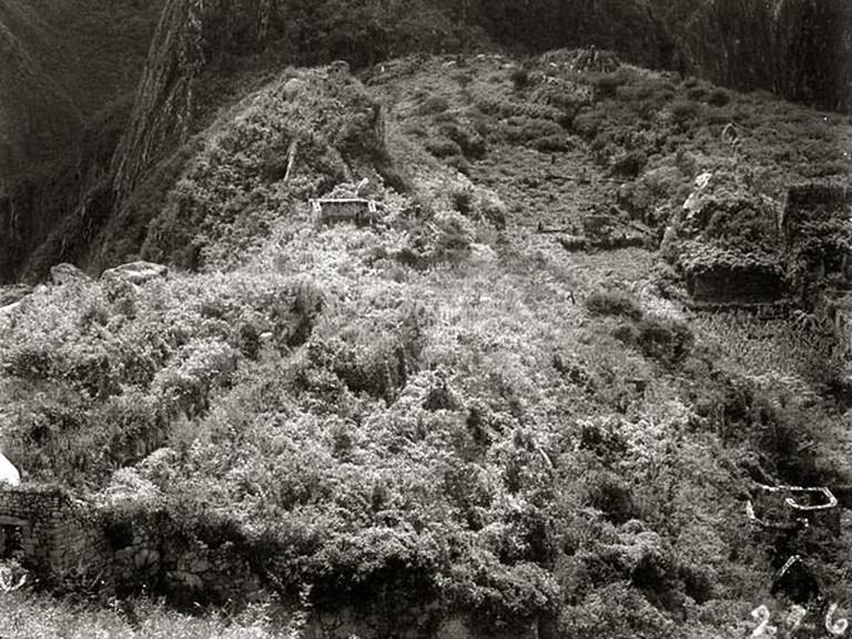 Machu Picchu in 1911, taken during Hiram Bingham's first trip to the site.