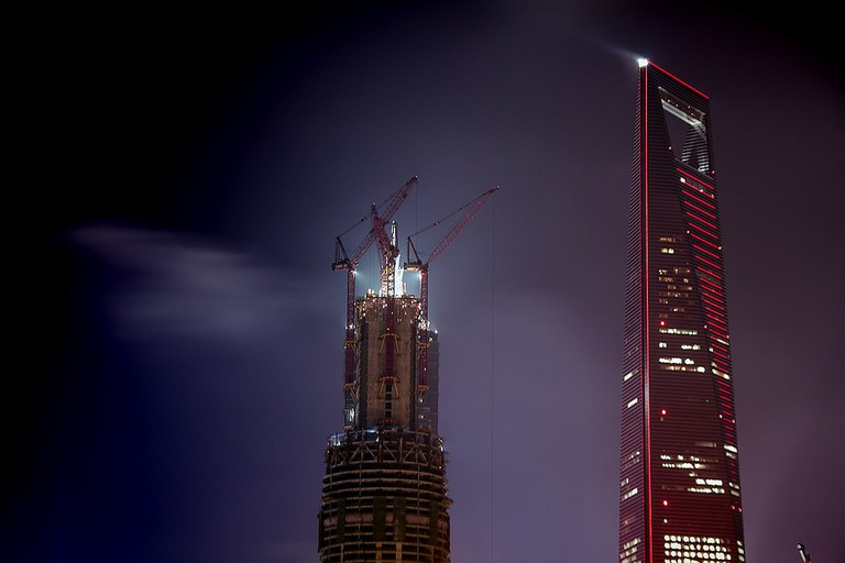 Construction of Shanghai Tower