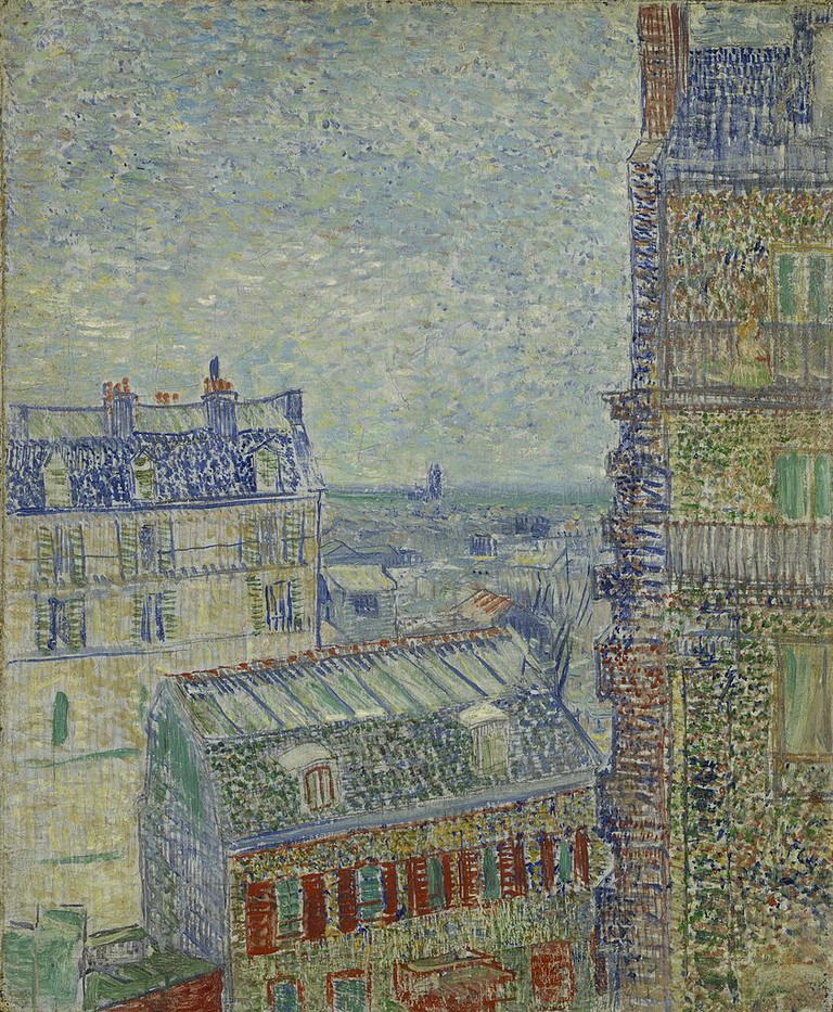Vincent van Gogh - View from Theo's apartment | © Creative Commons