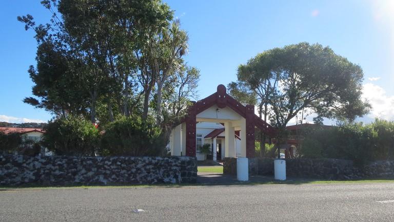 Entrance to Te Tii Marae, Waitangi