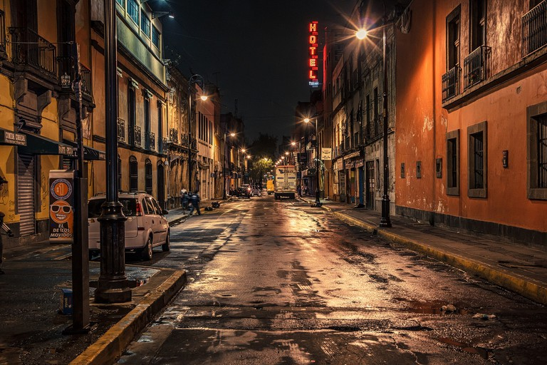 Centro Histórico after dark