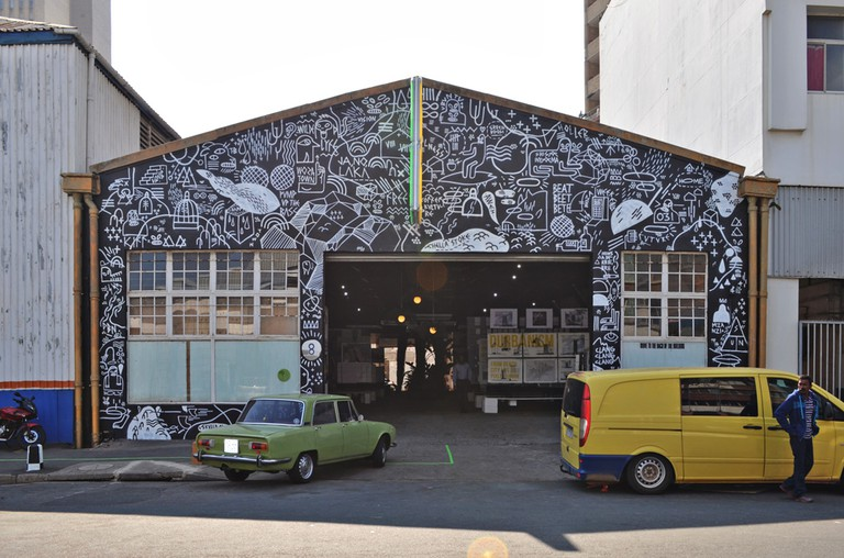 The mural at 8 Morrison Street in Durban by Skullboy