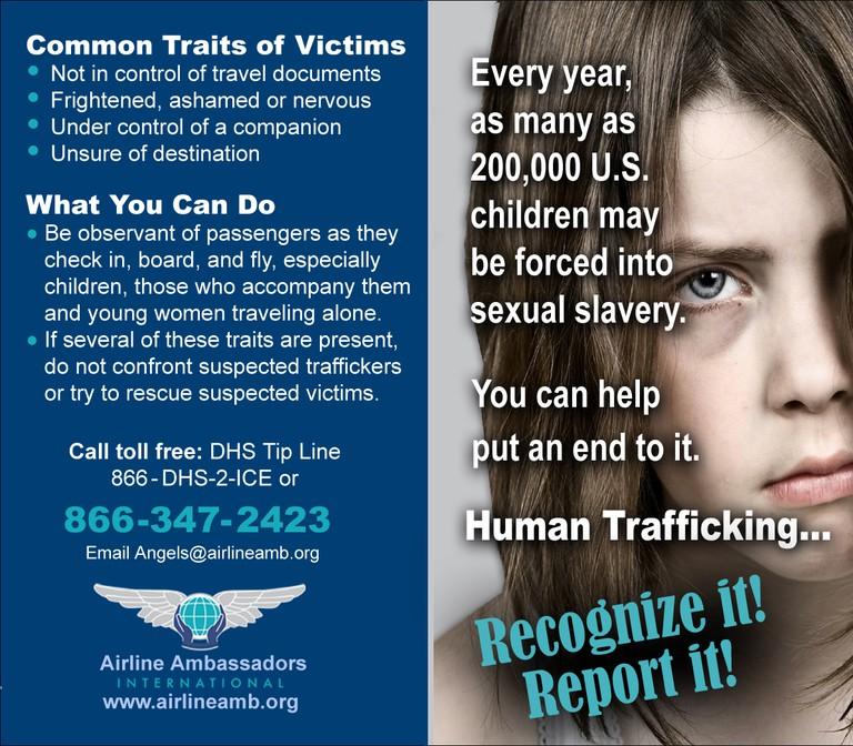 Trafficking Signs © Airline Ambassadors International