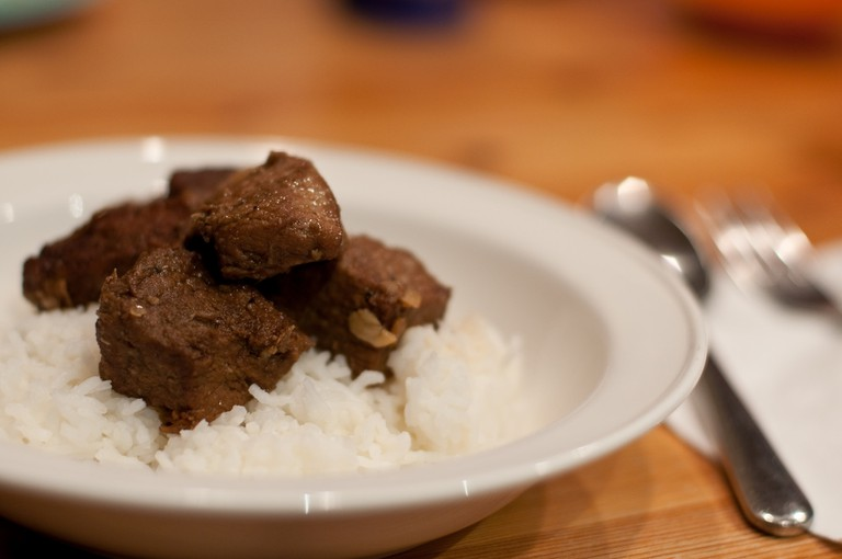 A simple pork adobo