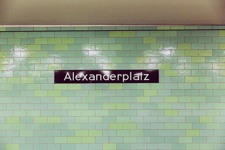 Typography at Alexanderplatz station