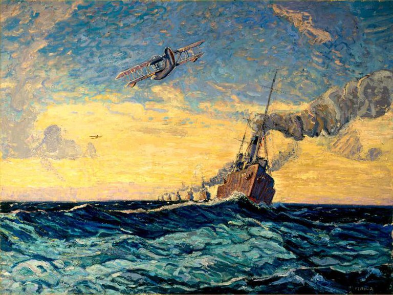Minesweepers, Halifax CWM (1918), by Arthur Lismer |Public Domain/WikiCommons